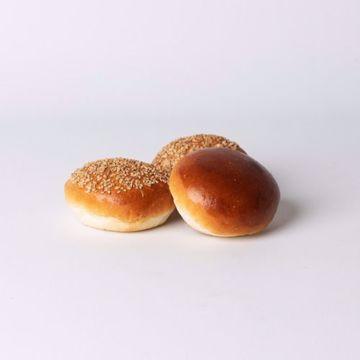 Afbeeldingen van Mini bol wit zacht assorti per 10 stuks
