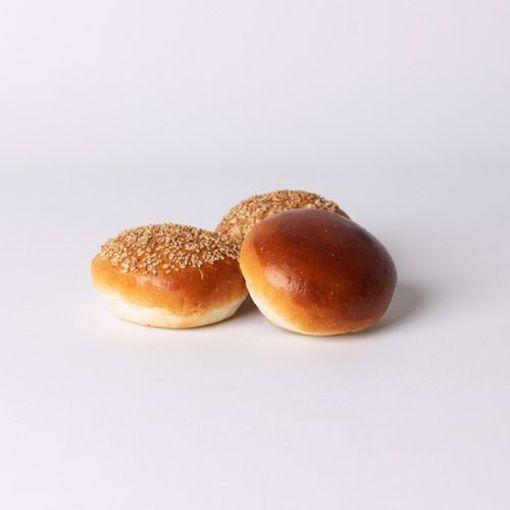 Afbeelding van Mini bol wit zacht assorti per 10 stuks