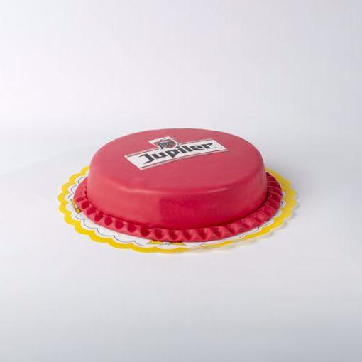 Afbeelding van Jupiler taart slagroom + aardbeien middel